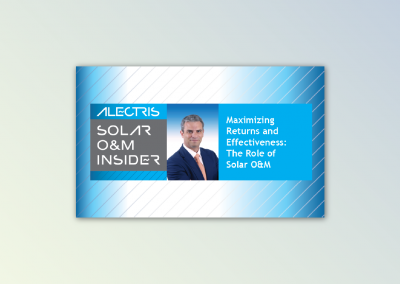 Podcast and Blog Series for Solar O&M and Asset Management