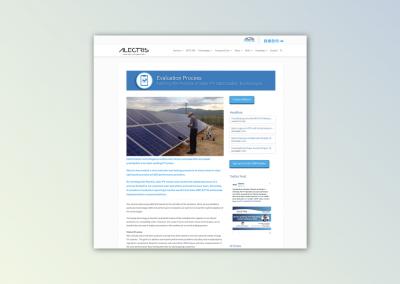 Alectris website development and design