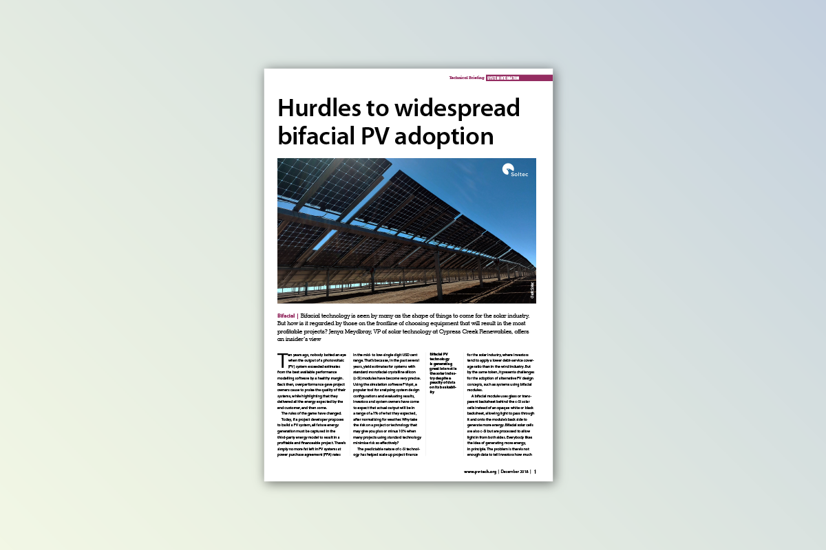 Trade Publication Feature Article