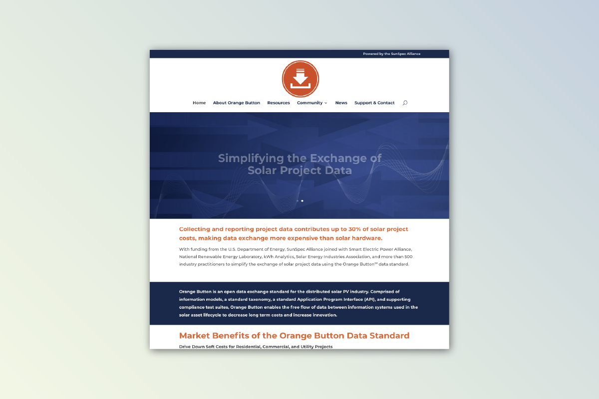Orange Button Website