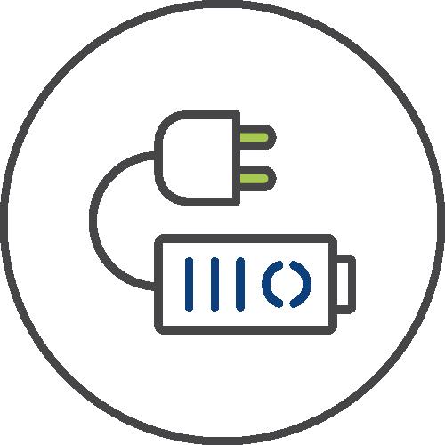 Energy storage icon image