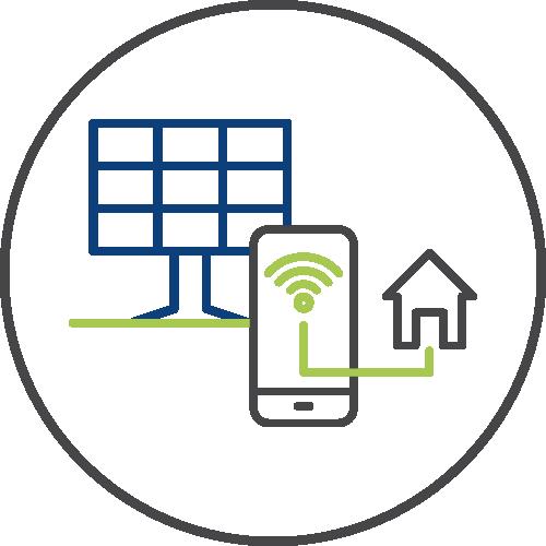 Smart grid icon image