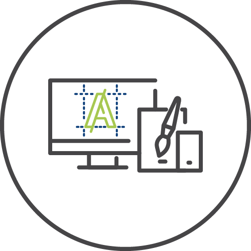 Visual identity icon image