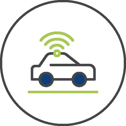 Autonomous vehicle icon image